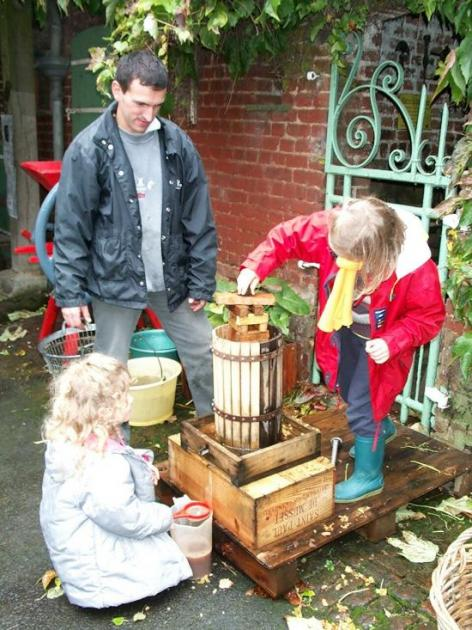 Pressurage des pommes