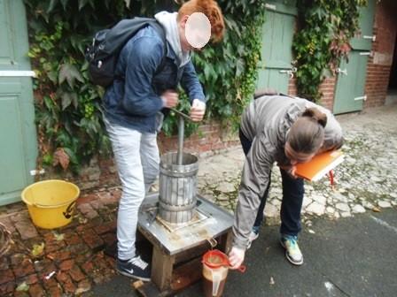 Lycee cidre pressoir