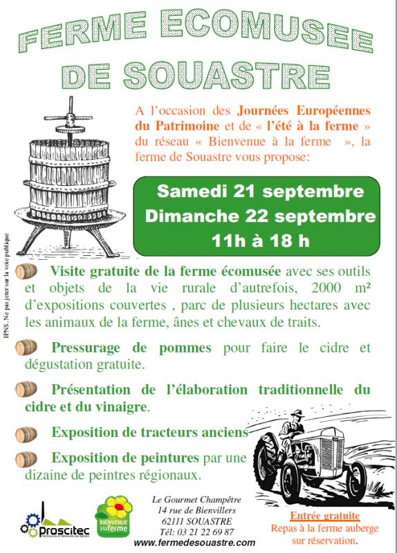 Journées du patrimoine 2019 ferme de Souastre