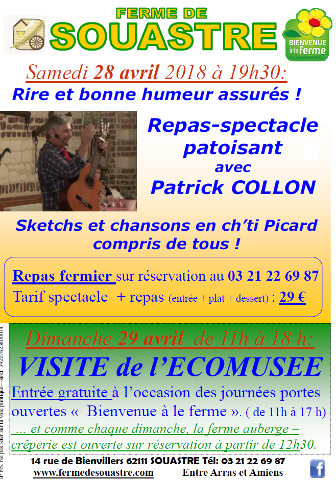 repas spectacle patoisant patrick collon
