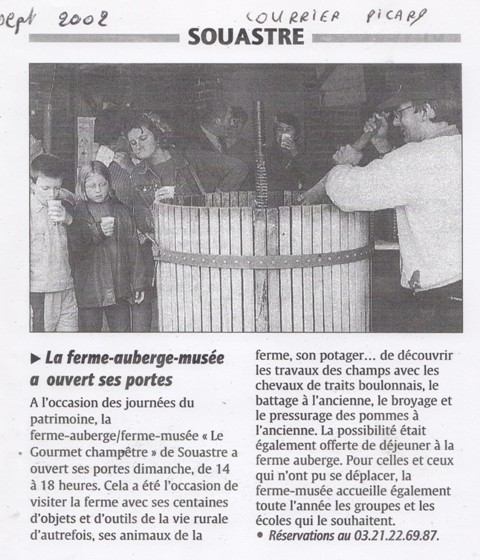 journées du patrimoine 2002