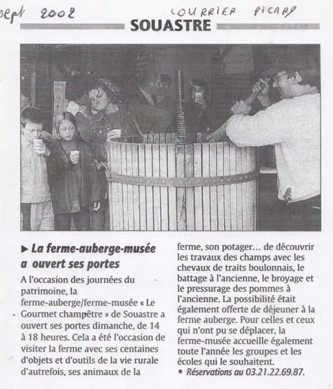 journées du patrimoine 2002